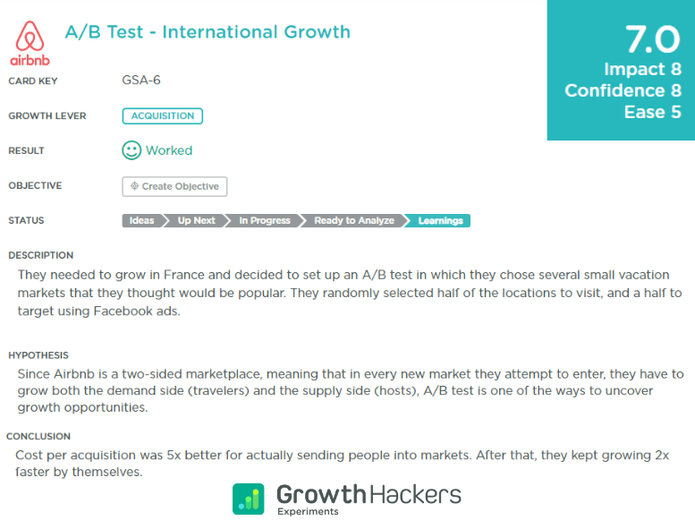 Airbnb growth hack