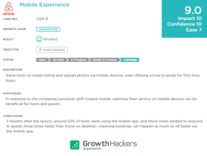 Mobile Experience Growth Study
