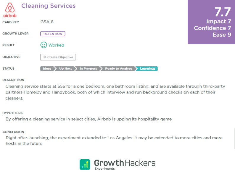 Airbnb Cleaning Services Growth Study