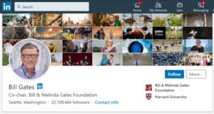 Bill Gates LinkedIn Profile