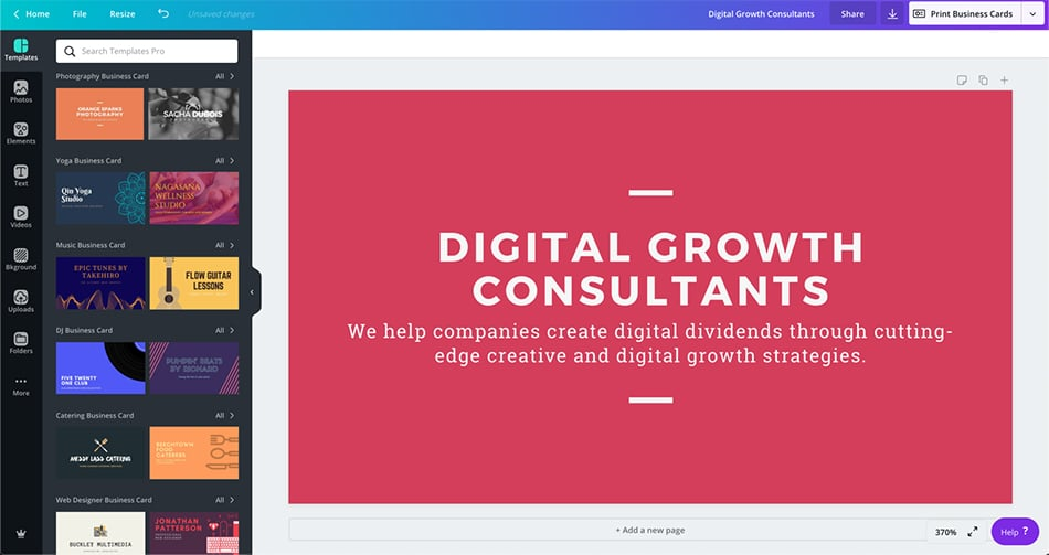 sales page của Canva
