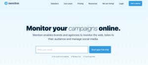 Mention social media công cụ marketing automation