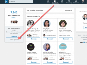 how to upload linkedin contacts